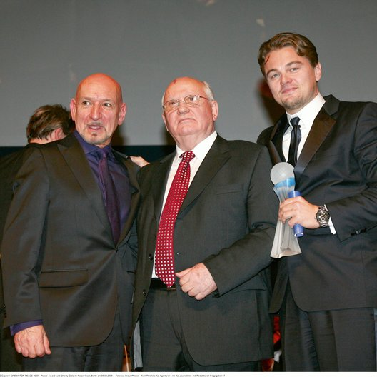 Cinem for Peace - Charity-Gala, Berlinale 2010 / Ben Kingsley, Michail Gorbatschow und Leonardo DiCaprio Poster