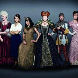 Frauen, die Geschichte machten: Katharina die Große (Alma Leiberg), Sophie Scholl (Liv Lisa Fries), Kleopatra (Pegah Ferydoni), Elisabeth I. (Marleen Lohse), Jeanne d' Arc (Nadja Bobyleva) und Königin Luise (Luise Heyer) Poster