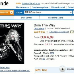 "Downloadpreise für Lady GaGa - ""Born This Way"" Poster"