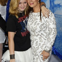 "Harden, Marcia Gay mit Tocher Eulala Scheel / Weltpremiere von ""Frozen"" in Hollywood Poster"