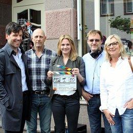 Tim Bergmann, Kameramann Tomas Erhart, Felicitas Woll, Marcus O. Rosenmüller und Produzentin Annette Reeker Poster