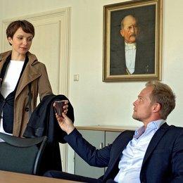 """Julia Koschitz und Matthias Koeberlin während der Dreharbeiten von """"Am Ende des Tages"""" Poster"""