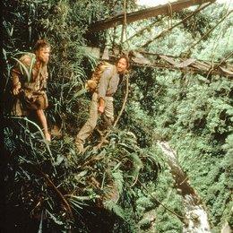 Auf der Jagd nach dem grünen Diamanten / Kathleen Turner / Michael Douglas Poster