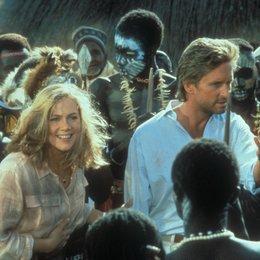 Auf der Jagd nach dem Juwel vom Nil / Kathleen Turner / Michael Douglas Poster