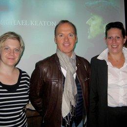 """Michael Keaton präsentiert sein Regiedebüt """"The Merry Gentleman"""" beim 5. Zurich Film Festival / Katrin Pehle, Michael Keaton und Claudia Gächter"""
