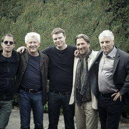 Michael Polle (mitte) am Set mit Regisseur Thomas Stiller, Miroslav Nemec, Michael Fitz und Udo Wachtveitl