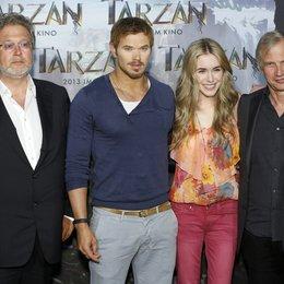 "Martin Moszkowicz / Kellan Lutz / Spencer Locke / Reinhard Klooss / Filmpremiere ""Tarzan 3D"" Photocall Poster"