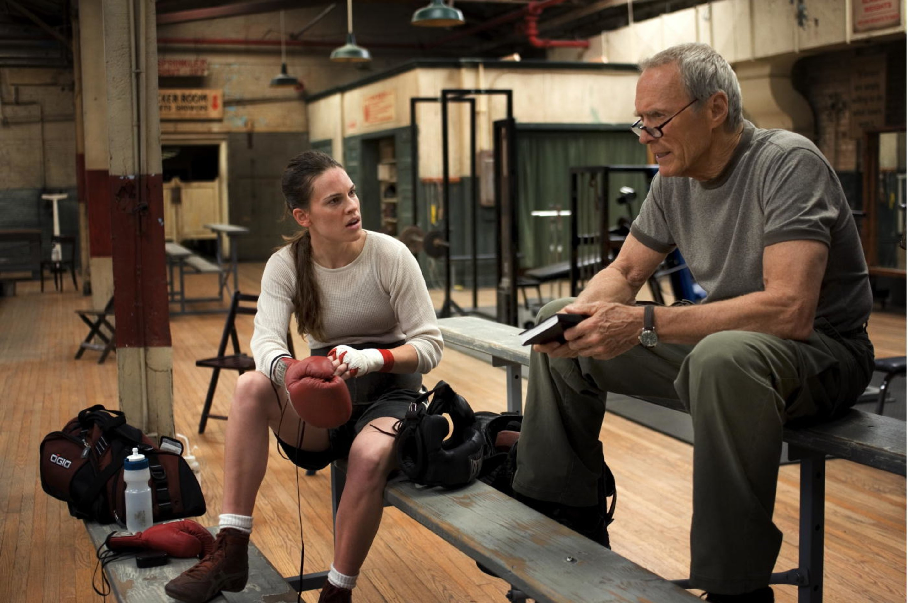 a review of the film million dollar baby by clint eastwood Directed by clint eastwood, million dollar baby is the 2004 academy award winner for best picture that tells the story of margaret fitzgerald (hilary swank) as she trains as a boxer under the .