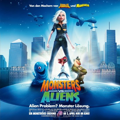 Monsters vs. Aliens / Monsters vs Aliens Poster