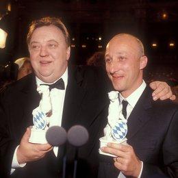 """11. Verleihung des Bayerischen Fernsehpreises 1999 """"Blaue Panther"""" / Dieter Pfaff und Oliver Hirschbiegel Poster"""