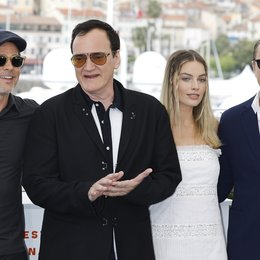 "Once Upon a Time in... Hollywood / Brad Pitt, Quentin Tarantino, Margot Robbie and Leonardo DiCaprio at the photo call for ""Once Upon A Time"" during the 72nd Cannes Film Festival at the Palais des Festivals on May 22, 2019 in Cannes, France. Poster"