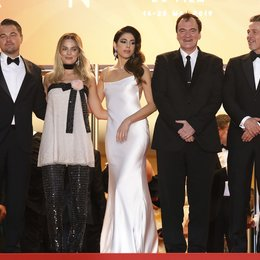 "Once Upon a Time in... Hollywood / Leonardo DiCaprio, Margot Robbie, Daniella Pick, Quentin Tarantino and Brad Pitt depart the screening of ""Once Upon A Time In Hollywood"" during the 72nd Cannes Film Festival at the Palais des Festivals on May 21, 20 Poster"