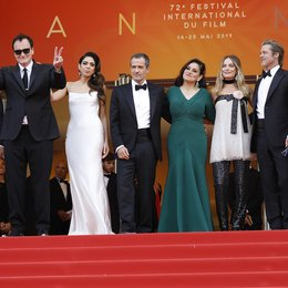 "Once Upon a Time in... Hollywood / Leonardo DiCaprio, Quentin Tarantino, Daniella Pick, David Heyman, Shannon McIntosh, Margot Robbie and Brad Pitt at the premiere red carpet for ""Once Upon A Time In Hollywood"" during the 72nd Cannes Film Festival at Poster"