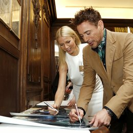 Gwyneth Paltrow / Robert Downey Jr. / Iron Man 3 / Pressekonferenz Poster