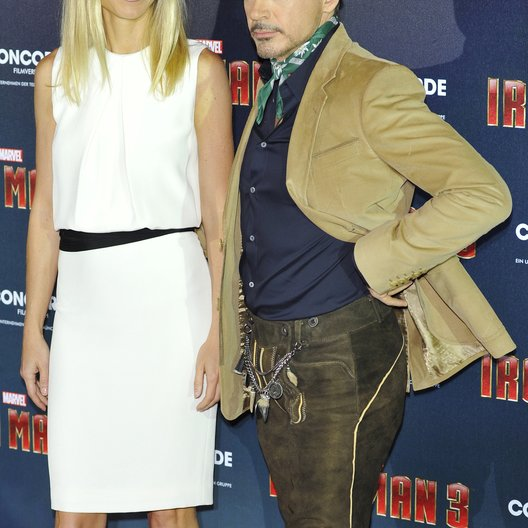 Gwyneth Paltrow / Robert Downey Jr. / Iron Man 3 / Pressekonferenz