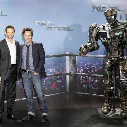 "Real Steel / Hugh Jackman, Shawn Levy und ""Atom"" Poster"