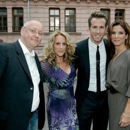 """Deutschlandpremiere von """"Selbst ist die Braut"""" in München / Thomas Menne, Anne Fletcher, Ryan Reynolds und Sandra Bullock"""