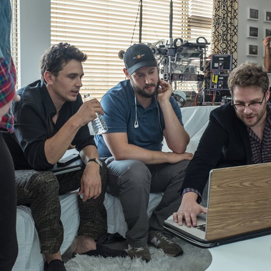 Interview, The / Set / James Franco / Evan Goldberg / Seth Rogen