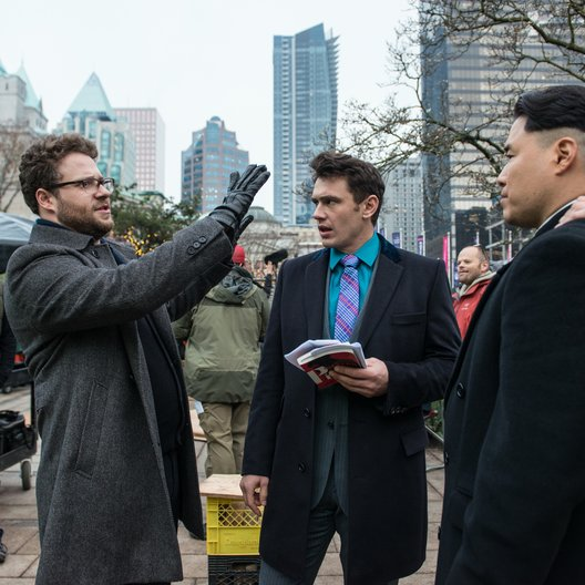 Interview, The / Set / Seth Rogen / James Franco / Randall Park