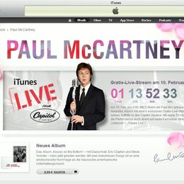 Sir Paul McCartney lässt iTunes live mithören Poster