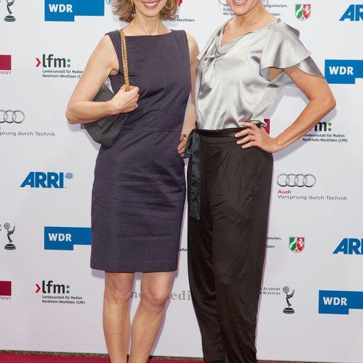 """""""International Emmy Awards"""" Vorentscheid in Köln 2011 / Abschluss-Empfang / Mareike Carrière / Sonja Kirchberger Poster"""