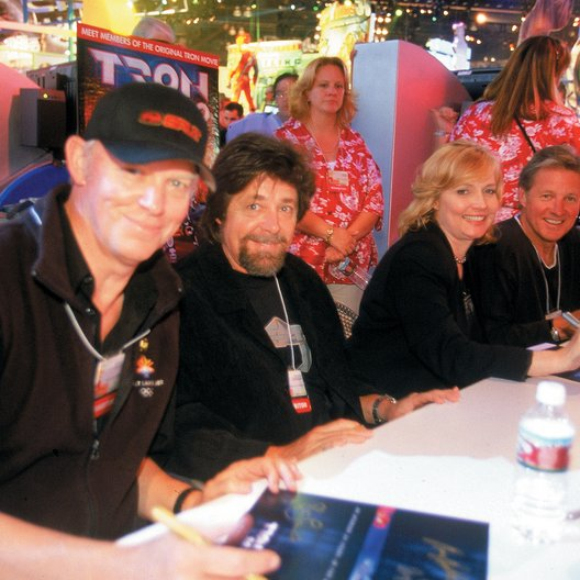 E3 Los Angeles 2003 / Tron / Richard Tylor (Production Design) / Steven Lisberger / Cindy Morgan / Bruce Boxleitner Poster