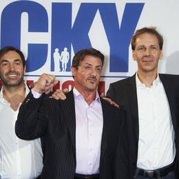 Vitali Klitschko, Michael Hildebrandt (Geschäftsführer Stage Entertainment Marketing & Sales), Sylvester Stallone, Johannes Mock-O'Hara (Geschäftsführer Stage Entertainment Deutschland) und Wladimir Klitschko (v.l.n.r.)