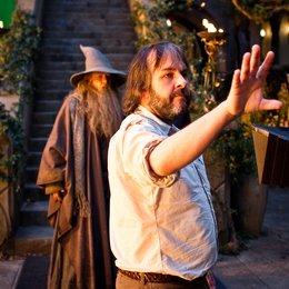 Hobbit: Eine unerwartete Reise, Der / Set / Sir Ian McKellen / Peter Jackson Poster