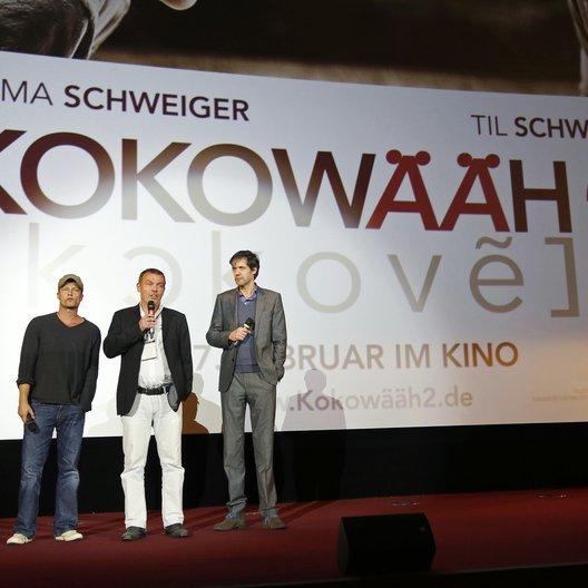 Warner Bros. Trade Show im Rahmen der Münchner Filmwoche 2013 / Til Schweiger, Tom Zickler und Christoph Liedke