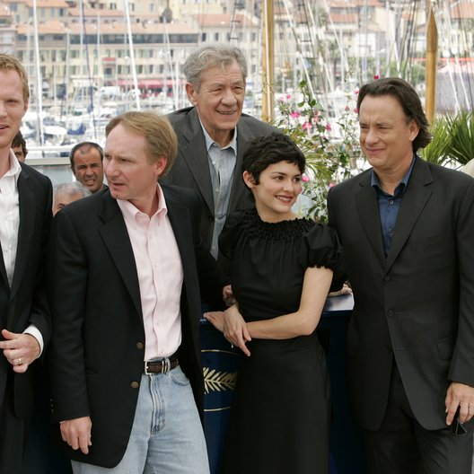Da Vinci Code Team / 59. Filmfestival Cannes 2006 / Paul Bettany / Dan Brown / Ian McKellen / Audrey Tautou / Tom Hanks / Jean Reno