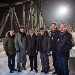 Marc Platt, Tom Hanks, Angela Merkel, Steven Spielbergs, Carl Woebcken und Henning Molfenter