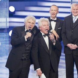 """24. Bayerischer Fernsehpreis - """"Blaue Panther"""" 2012 / Udo Wachtveitl, Miroslav Nemec, Christoph Süß und Horst Seehofer Poster"""