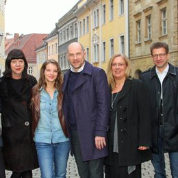 Sven Poser, Jutta Müller, Yvonne Catterfeld, Götz Schubert, Jana Brandt, Wolf-Dieter Jacobi und Oberbürgermeister Siegfried Deinege