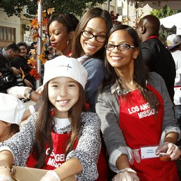 Zoe Saldana / Cisely Saldana / Charity Thanksgiving in Los Angeles 2011 Poster