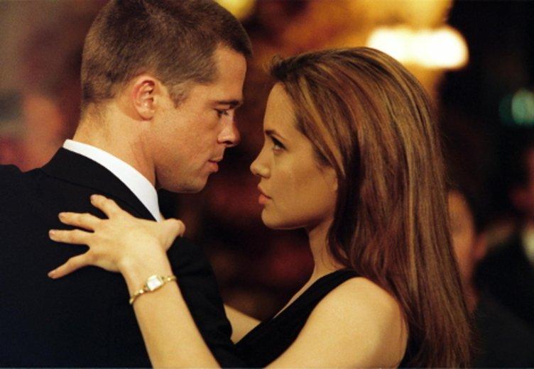 """Zwischen Angelina Jolie und Brad Pitt knisterte es auf dem Set von """"Mr. & Mrs. Smith"""". © Kinowelt"""