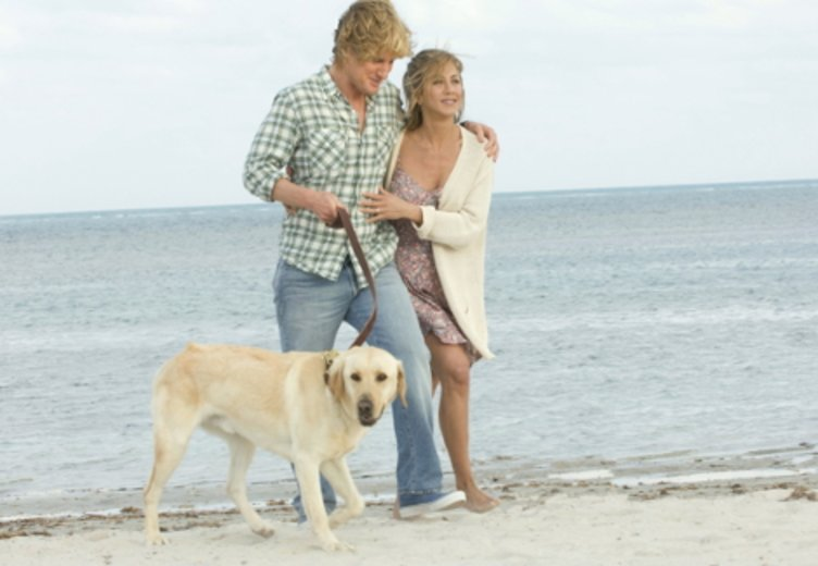 "Jennifer Aniston und owen Wilson in ""Marley & Ich"" © Fox"