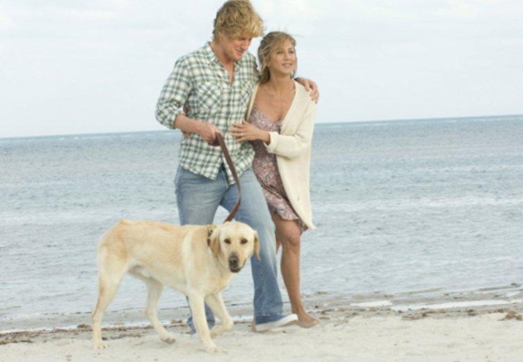 """Jennifer Aniston und owen Wilson in """"Marley & Ich"""" © Fox"""