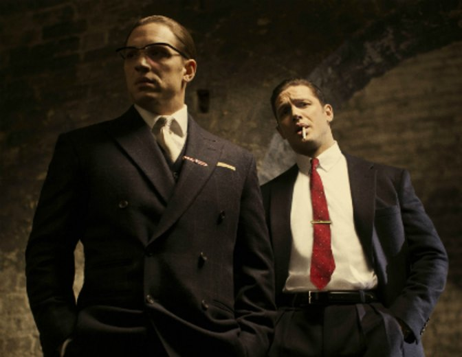 "In einer Doppelrolle mit Stil: Tom Hardy in ""Legend"" © Studiocanal"