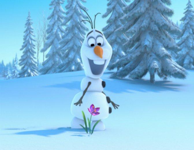 """Josh Gad vertont Olaf in """"Die Eiskönigin - Völlig unverfroren"""" (2013) © Walt Disney"""