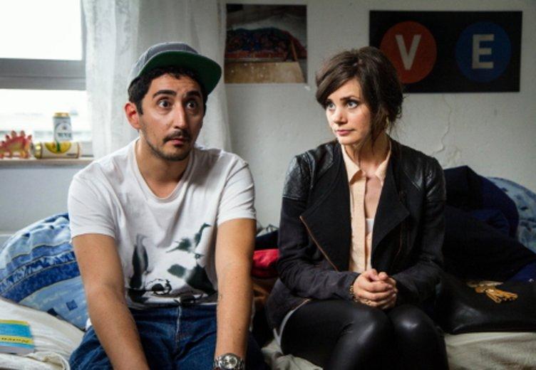 Joyce Ilg und Ekrem Boran aka Eko Fresh in der ZDFneo-Serie Blockbustaz (2014) © © ZDFneo/Bennet Switala