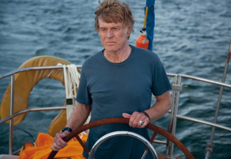 "Robert Redford als Schiffsbrüchiger ind ""All Is Lost"" 2013 © Universum Film"