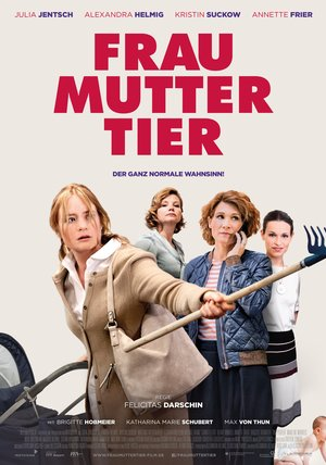 Frau Mutter Tier Poster
