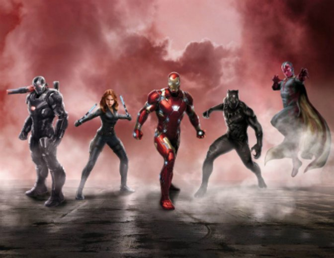 Captain America Civil War Team Iron
