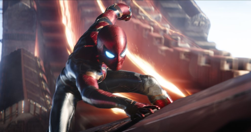 Tom Holland als Spider-Man in Avengers 3: Infinity War