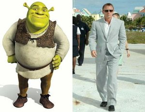 Shrek bald als James Bond?