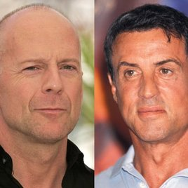 Bruce Willis bei den Action-Veteranen