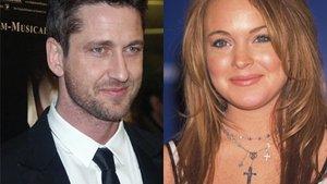 Gerard Butler knutscht Lindsay Lohan