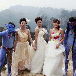 """Schäbige """"Avatar""""-Hochzeiten in China"""