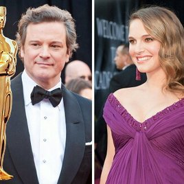 "Oscars: Colin Firth dankt wie in ""The King's Speech"", Natalie Portman weint"
