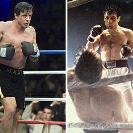 """""""Rocky"""" Sylvester Stallone boxt gegen """"Wilder Stier"""" Robert De Niro"""